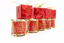 Free The Row From Christmas Decorations Royalty Free Stock Image - 21769346