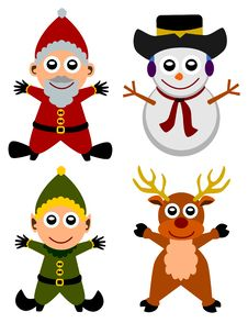 Christmas Characters Royalty Free Stock Images