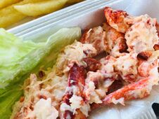 Free Big Juicy Lobster Roll, A New England Favorite Stock Photo - 217694520