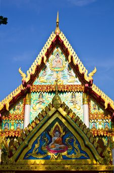 Free Buddhist Church Entrance. Royalty Free Stock Image - 21770306