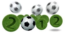 3D Soccer And Football Royalty Free Stock Image