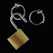 Free Opened Padlock Stock Photography - 21773142