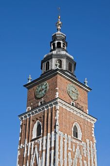 Free Town Hall Tower In Krakow Royalty Free Stock Photo - 21774085