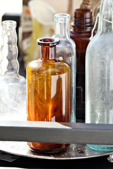 Assortment Of Bottles Stock Photography