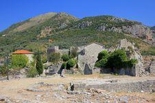 Stari Bar Medieval Fortress Stock Image