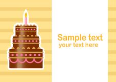 Free Background With Cake Royalty Free Stock Image - 21775156