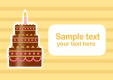 Free Background With Cake Stock Photo - 21775180