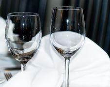Elegant Wine Glasses Stock Images