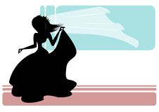 Free Bride Silhouette Royalty Free Stock Photo - 21776385