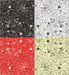 Free Vector Abstract Floral Pattern Stock Images - 21777344