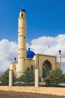 Muslim Mosque On Blue Sky
