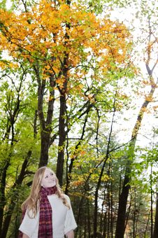 Free Woman In Autumn Stock Images - 21777614