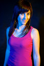 Free Portrait Of Girl At Disco. Royalty Free Stock Image - 21783856