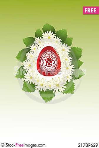 Free Red Easter Egg Royalty Free Stock Images - 21789629