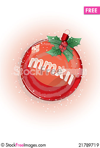 Free Red Christmas Ball Royalty Free Stock Images - 21789719