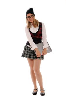 Free College Student With File Folder Stock Photo - 21780160