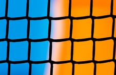 Free Plastic Grid With Blue And Orange Background Stock Images - 21780164