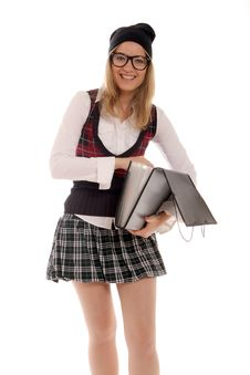 Free Student With Open File Folder Stock Photography - 21780502
