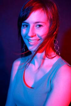 Smiling Girl At Disco.