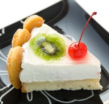 Free Cheesecake With Fruits Stock Photography - 21783752