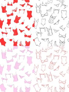 Seamless Patterns With Underwear Royalty Free Stock Photo