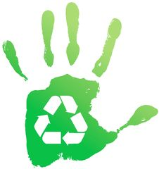 Free Handprint Recycle Royalty Free Stock Photos - 21785488