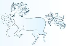 Free Blue Horse Stock Photo - 21785500