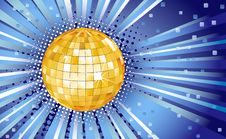 Free Blue Background With Disco Ball Stock Image - 21786971