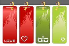 Free Red And Green Tags Royalty Free Stock Image - 21787146