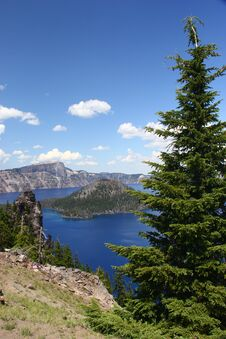 Free A Cool Crater Lake On A Warm & Summer Day Royalty Free Stock Photos - 217838208