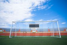 Free Fotball Soccer Stadium On Blue Sky Royalty Free Stock Image - 21790626