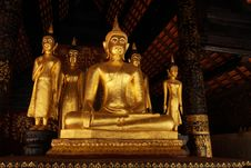 Free Golden Buddha Statue Stock Photos - 21790663
