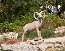 Free Statue Of Wild Goat Royalty Free Stock Image - 21791296