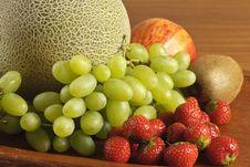 Free Melon, Grape, Strawberry, Apple And Kiwi Royalty Free Stock Photo - 21791525