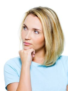 Free Portrait Of An Young Thinking Woman Royalty Free Stock Photography - 21791537