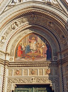 Free Florence Duomo Cathedral Art Detail Stock Image - 21792471