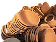 Beautiful Clay Pots Royalty Free Stock Photos