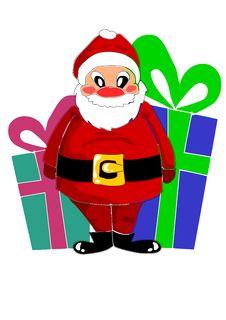 Free Happy Santa Claus And Big Gifts Stock Photos - 21795483