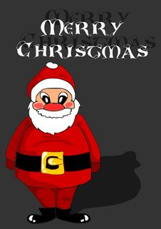 Free Red Santa Claus On Black Background Royalty Free Stock Photography - 21795497