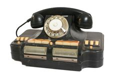 Free Vintage Black Phone With Disc Dials Stock Photo - 21795500