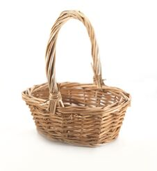Free Brown Wicker Basket Stock Image - 21797161