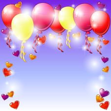 Balloons And Hearts Stock Image