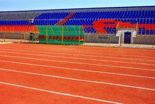 Free Fotball Stadium On Blue Sky Royalty Free Stock Images - 21797829