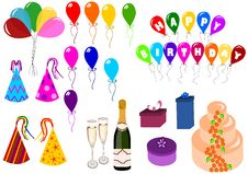 Celebration And Party Set Stock Photo