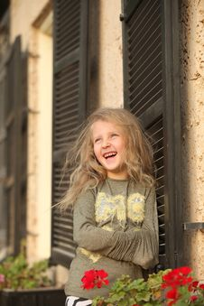 Girl Posing By The Window Royalty Free Stock Photo