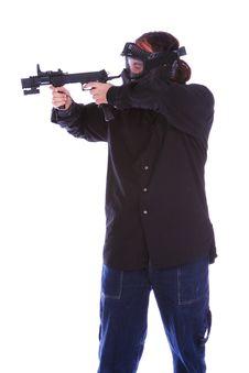 Free Terrorist Shooting Stock Photo - 2180290