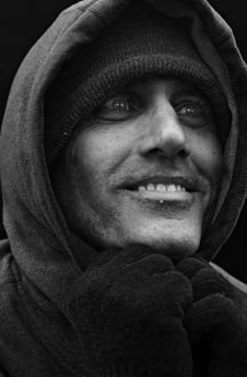 Free Urban Man Under His Hood BW Royalty Free Stock Photos - 2180358