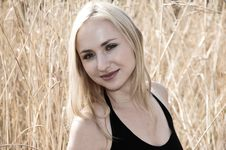 Free Portrait Of A Blonde Woman Smi Royalty Free Stock Photography - 2181047