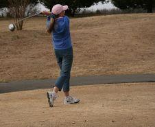 Free Lady Golfer Stock Image - 2181611
