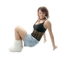 Free Girl In Boots Royalty Free Stock Photography - 2182347